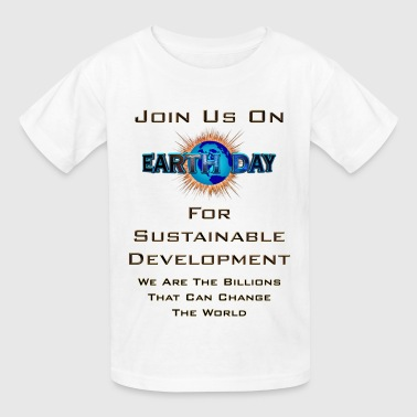 Earth Day Sustainable Development Men's T-Shirt - Kids' T-Shirt
