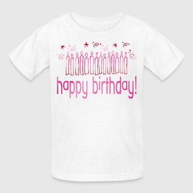 HAPPY BIRTHDAY (pink candles) - Kids' T-Shirt