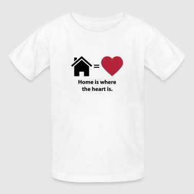 Home is where the heart is. (quote symbols) - Kids' T-Shirt