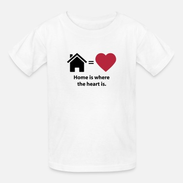 Quotes Home is where the heart is. (quote symbols) - Kids' T-Shirt