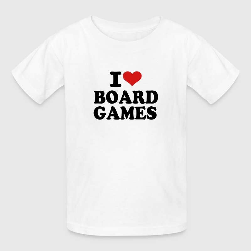 I love Board Games - Kids' T-Shirt
