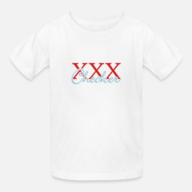 Xxx Boys xxx checker (b, 2c) - Kids' T-Shirt