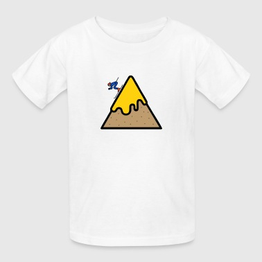 Surfing at the top of the mountain - Kids' T-Shirt