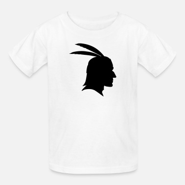 Mens Indian Head Native Indian Head Silhouette - Kids' T-Shirt