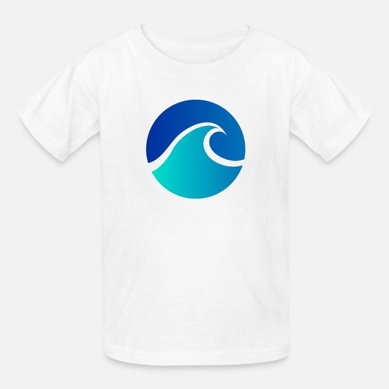Beach T-Shirts - Summer - Wave - Design - Water - Vacation - Kids' T-Shirt white