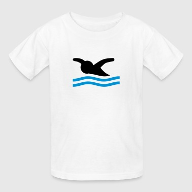 Butterfly Swimming - Kids' T-Shirt