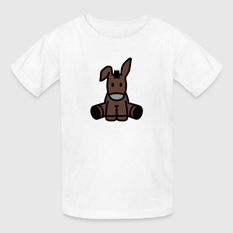 Cute Cartoon Donkey Sitting - Kids' T-Shirt