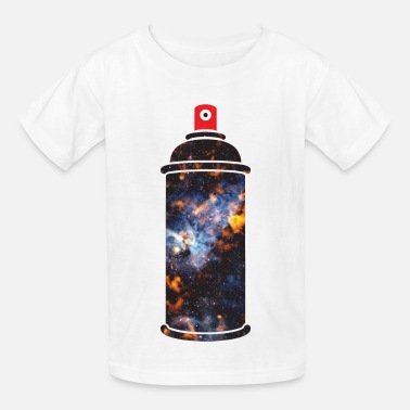Hipster Cosmic Spray Paint - Kids' T-Shirt
