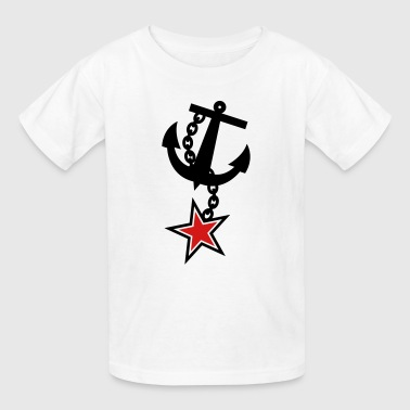 ANCHOR navy with a 5 point STAR army military - Kids' T-Shirt