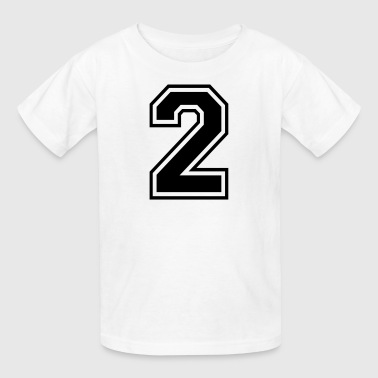 Number 2 College Style - Kids' T-Shirt