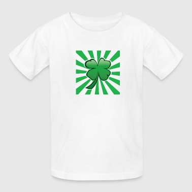 Psychedelic Four Leaf Clover - Kids' T-Shirt