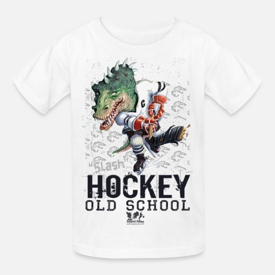 Babyproducts T-Shirts - Dino Hockey - Kids' T-Shirt white