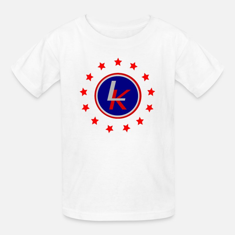 Patriot T-Shirts - Red stars in a circle - Kids' T-Shirt white