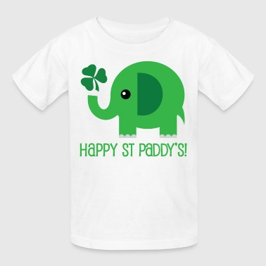 St Patricks Day Green Elephant - Kids' T-Shirt