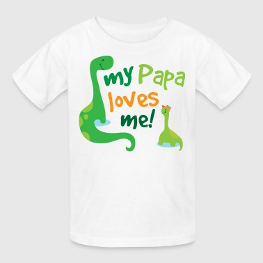 Papa Loves Me Dinosaur - Kids' T-Shirt
