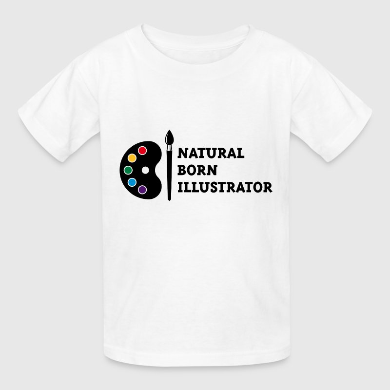Natural Born Illustrator - Kids' T-Shirt