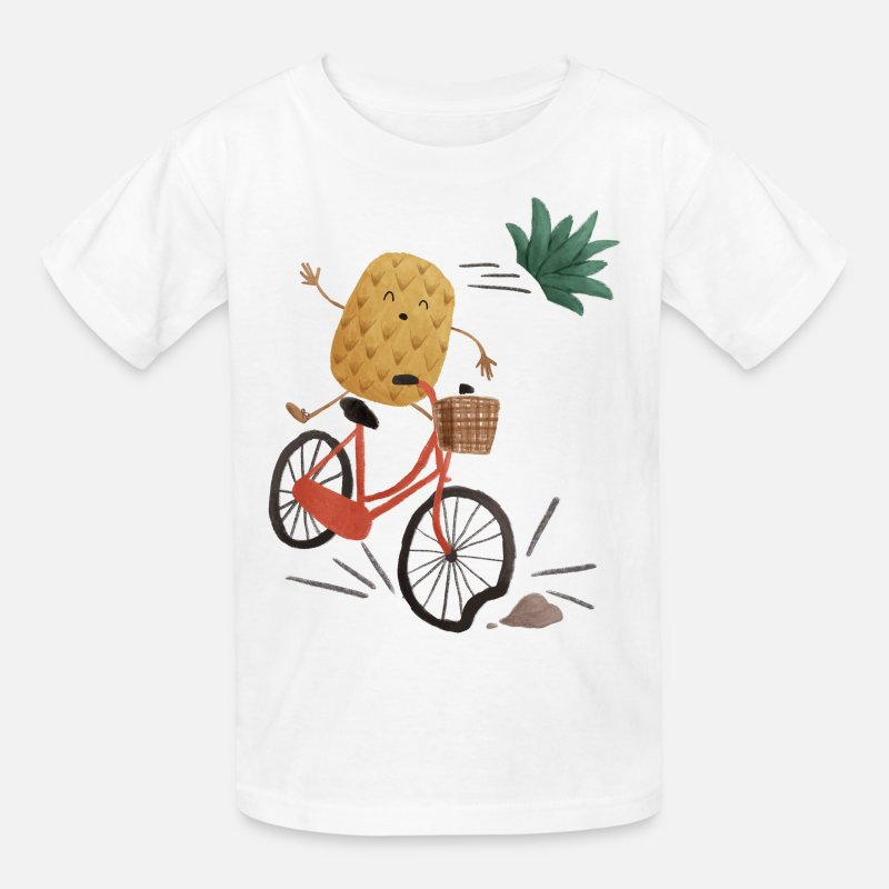 Collections T-Shirts - Pineapple Bike Obstacle - Kids' T-Shirt white