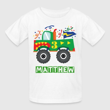 3rd Birthday Monster Truck - Kids' T-Shirt
