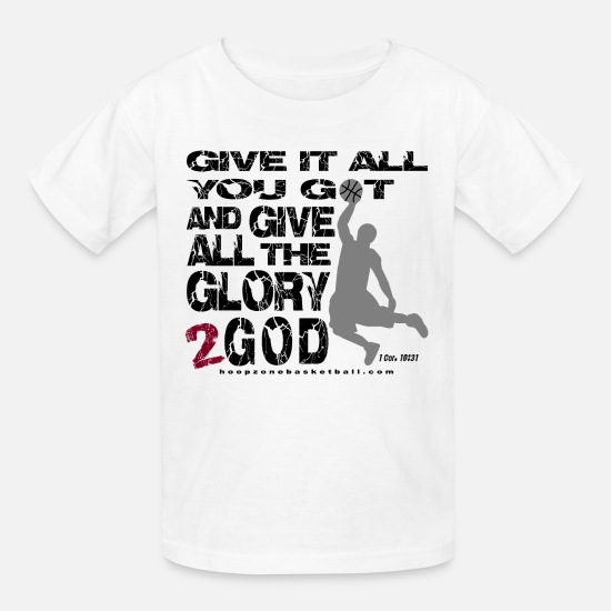 Sports T-Shirts - Glory2God4lite.png - Kids' T-Shirt white