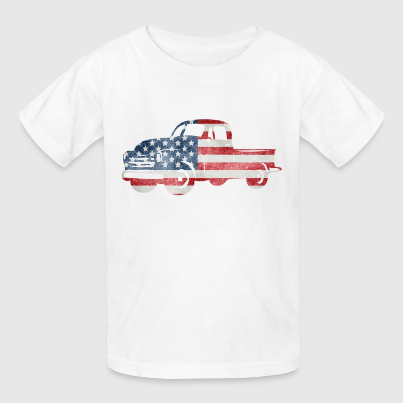 USA Flag American Truck Clothing Apparel T-shirts - Kids' T-Shirt