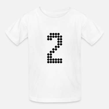 Numbered 2, Numbers, Football Numbers, Jersey Numbers - Kids' T-Shirt