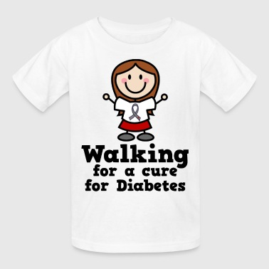 Diabetes Walking For A Cure - Kids' T-Shirt