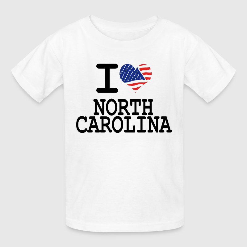i love north carolina - Kids' T-Shirt
