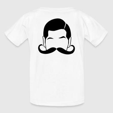 Ringmaster curly moustache man - Kids' T-Shirt