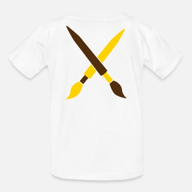Arty paintbrushes duelling arty artist tools - Kids' T-Shirt