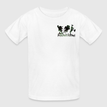 Slash Kids White Dino Hockey Kids' Shirts - Kids' T-Shirt