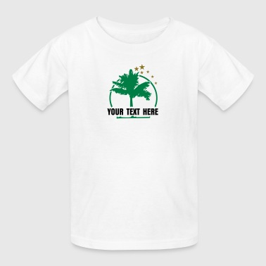 Party Time Happy Hour palm tree 'n stars (ot, 2c) - Kids' T-Shirt