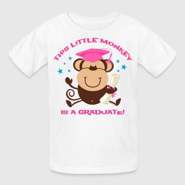 Girl Monkey Graduate - Kids' T-Shirt