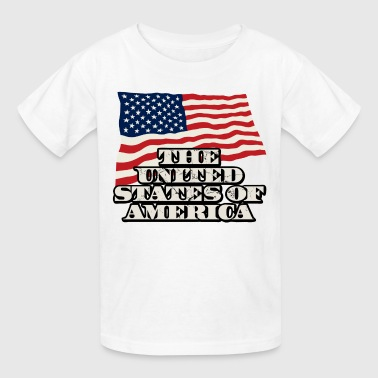 United States of America, USA, flag - Kids' T-Shirt