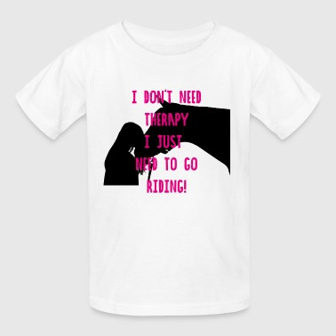 Horse Horses Riding Therapy Horseback Ride Gift - Kids' T-Shirt