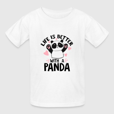panda bear children kids kindergarden animal gift - Kids' T-Shirt