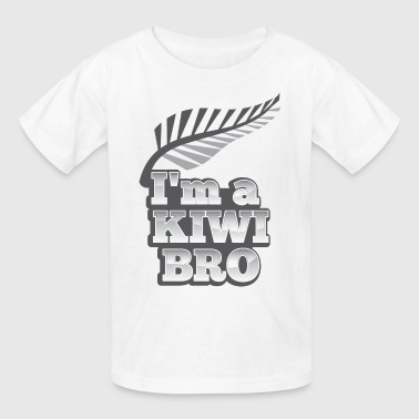 I'm a kiwi BRO in silver NEW ZEALAND - Kids' T-Shirt