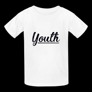 Youth lettering statement black - Kids' T-Shirt