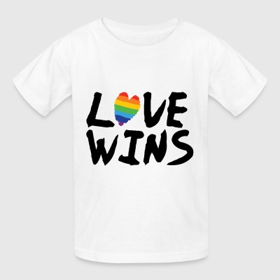 Love Wins T-Shirt - Kids' T-Shirt