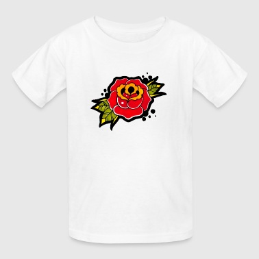 Vintage Rose Tattoo - Kids' T-Shirt