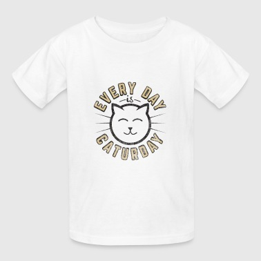 Funny Cat Shirt Everyday is Caturday - Kids' T-Shirt