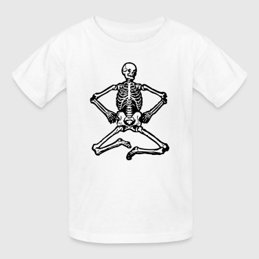 Skeleton Sitting - Kids' T-Shirt
