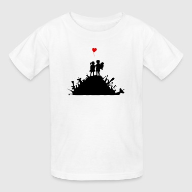 Banksy Graffiti Street Art War and Love Guns Heart - Kids' T-Shirt