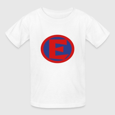 Super, Hero, Heroine, Initials, E - Kids' T-Shirt
