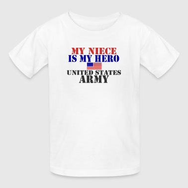 MY NIECE IS MY HERO US ARMY - Kids' T-Shirt