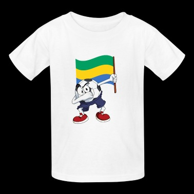 Gabon Dabbing Soccer Ball - Kids' T-Shirt