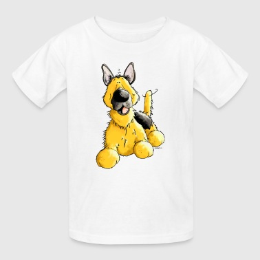 Happy German Shepherd Dog - Dogs - Kids' T-Shirt