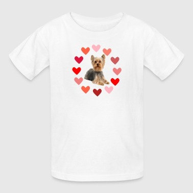 Yorkie in Hearts - Kids' T-Shirt