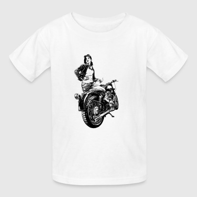 motocross motorcycles athlete sport motorrad21 - Kids' T-Shirt