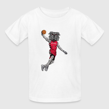custom bulldog mascot wm-basketball - Kids' T-Shirt