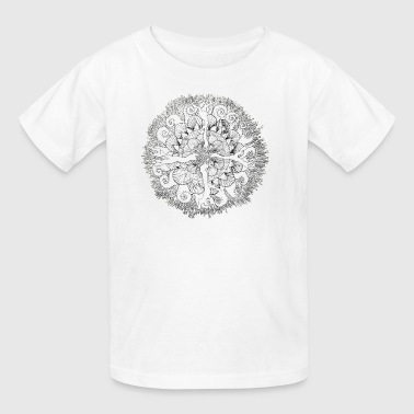 Sea themed mandala - Kids' T-Shirt